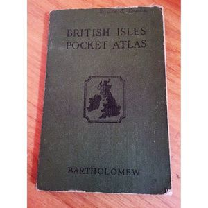 British Isles Pocket Atlas for Touring 1943 COLOR